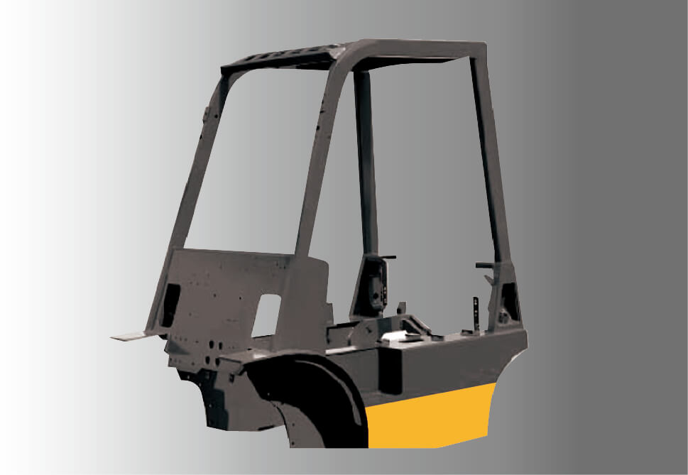 Axon 2.5 tons diesel counterweight forklift High load integrated frame body